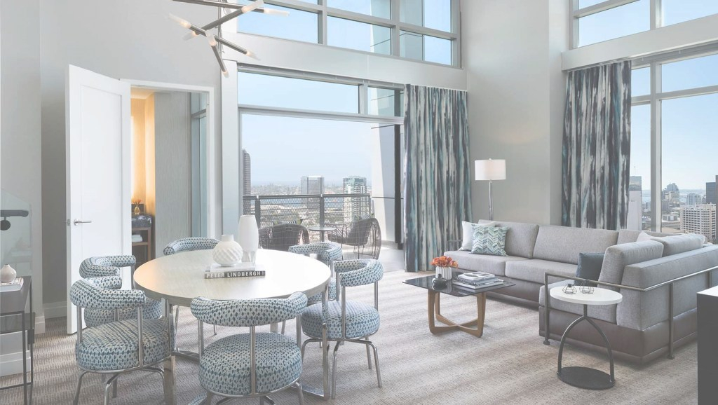 Amazing San Diego Skyline Collection | Kimpton Palomar Hotel San Diego for The Living Room San Diego