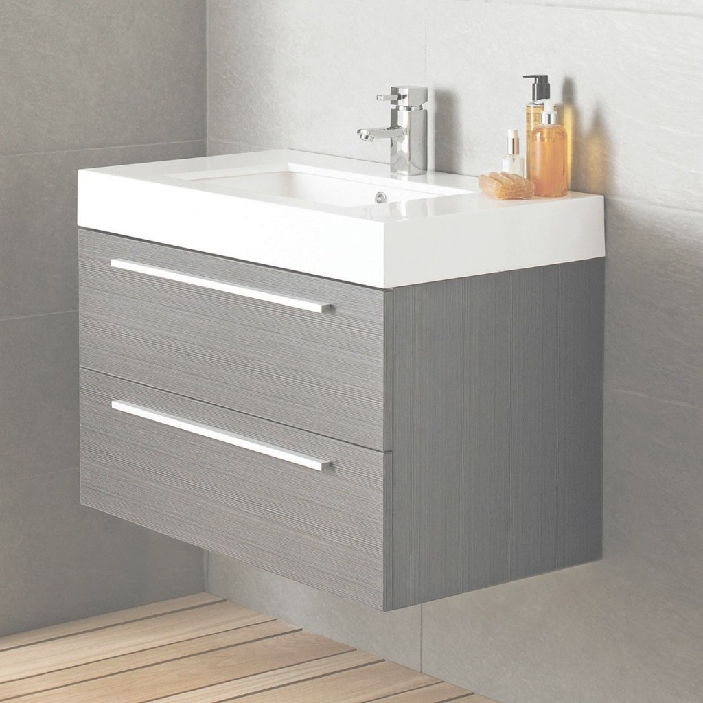 Amazing Vienna Wall Mounted Vanity Unit, 800Mm Wide, Textured Grey | Showers pertaining to Ikea Bathroom Vanity Units