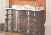 Beautiful 60 Inch Single Sink Bathroom Vanity 8 Drawers Medium Brown Color with regard to 60 Bathroom Vanity Single Sink