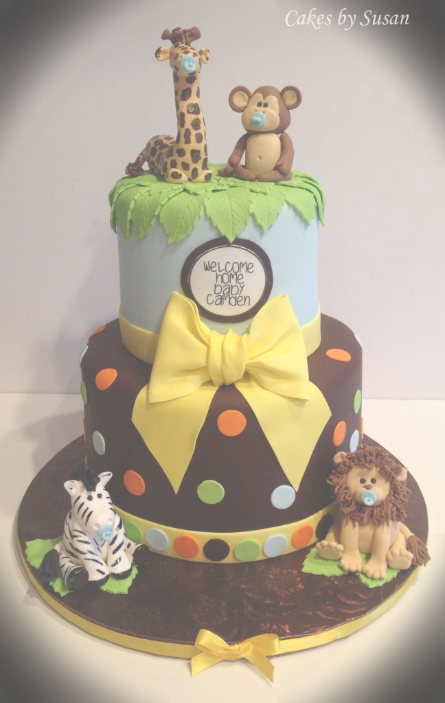 Beautiful Baby Shower Jungle Baby Shower Cake. Please Check Out My Website for Jungle Baby Shower Cake