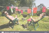 Beautiful Couple Sunbathing In Back Yard Stock Photo: 5169232 - Alamy in Backyard Sunbathing
