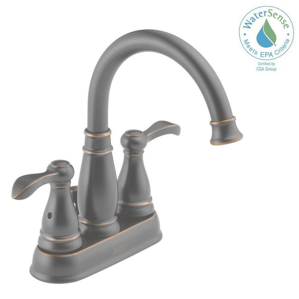 Beautiful Delta Porter 4 In. Centerset 2-Handle Bathroom Faucet In Oil Rubbed regarding Brushed Bronze Bathroom Faucet
