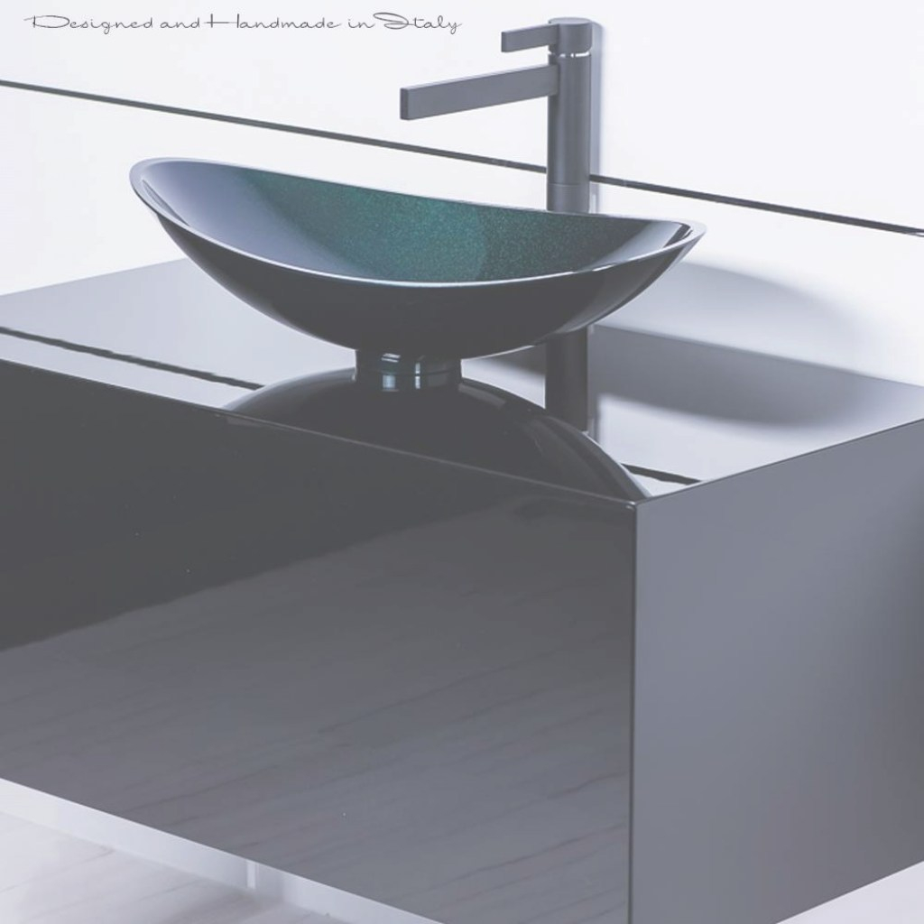 Beautiful Modern Matte Black Bathroom Faucet And Black Vessel Sink Combo for Black Bathroom Sink