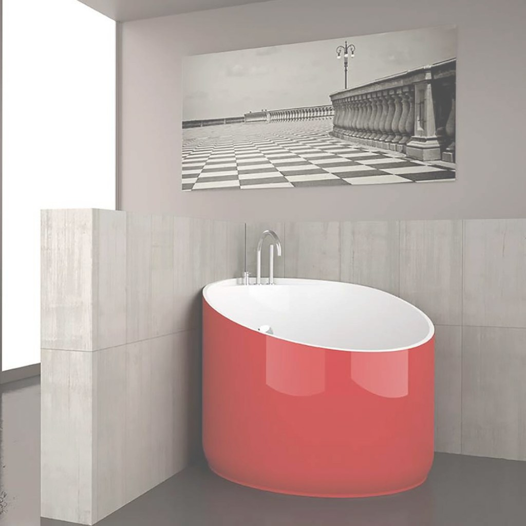 Beautiful Modern Round Bathtub | Red with regard to High Quality Red Bathroom Sink