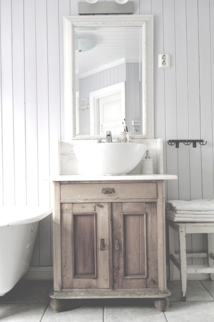 Beautiful Vintage Interior Antique Stand Used As Bathroom Vanity. | Decorating regarding Retro Bathroom Sinks