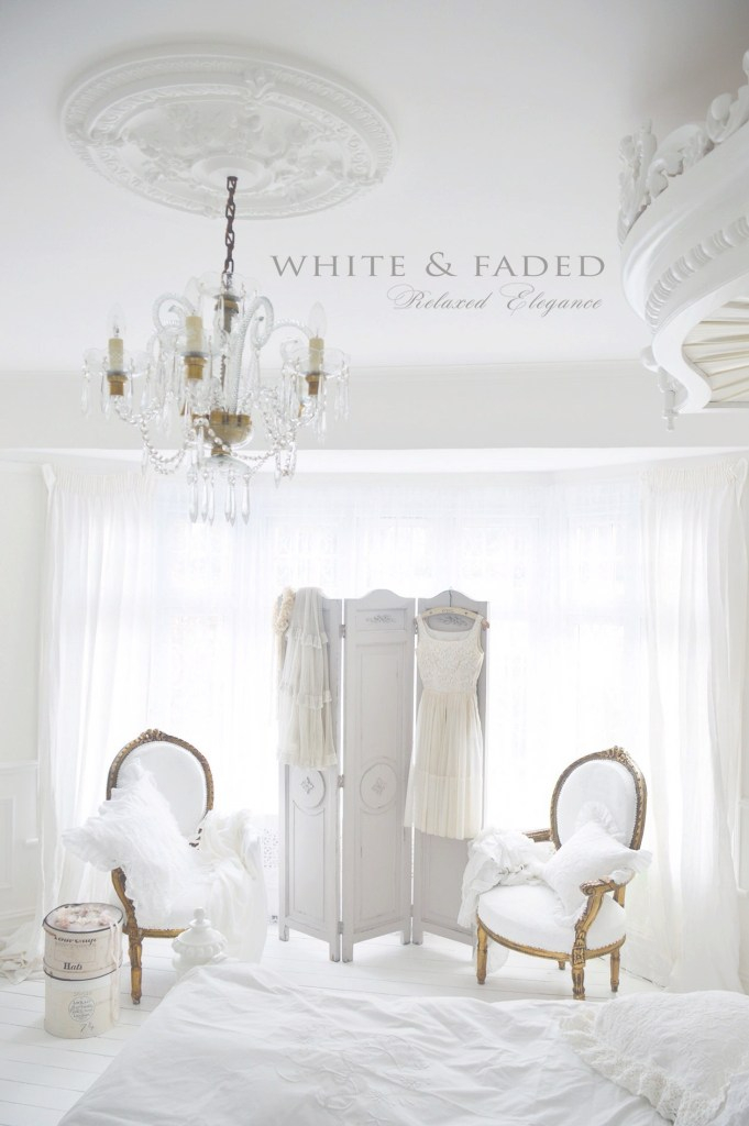 Beautiful White French Bedroom | White & Faded | French Bedroom Decor, Shabby throughout Review Boudoir Bedroom