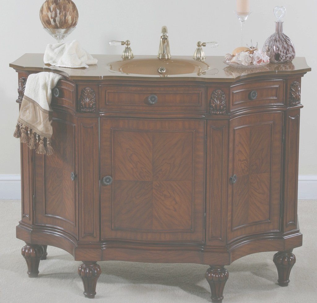 Cool Afd Hyde Park 48 Inch Vintage Vanity Bathroom Vanity with regard to High Quality Antique Bathroom Vanity For Sale