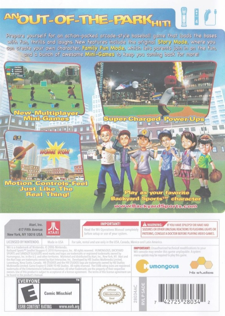 Cool Backyard Sports: Sandlot Sluggers (2010) Wii Box Cover Art - Mobygames regarding Inspirational Backyard Sports Sandlot Sluggers