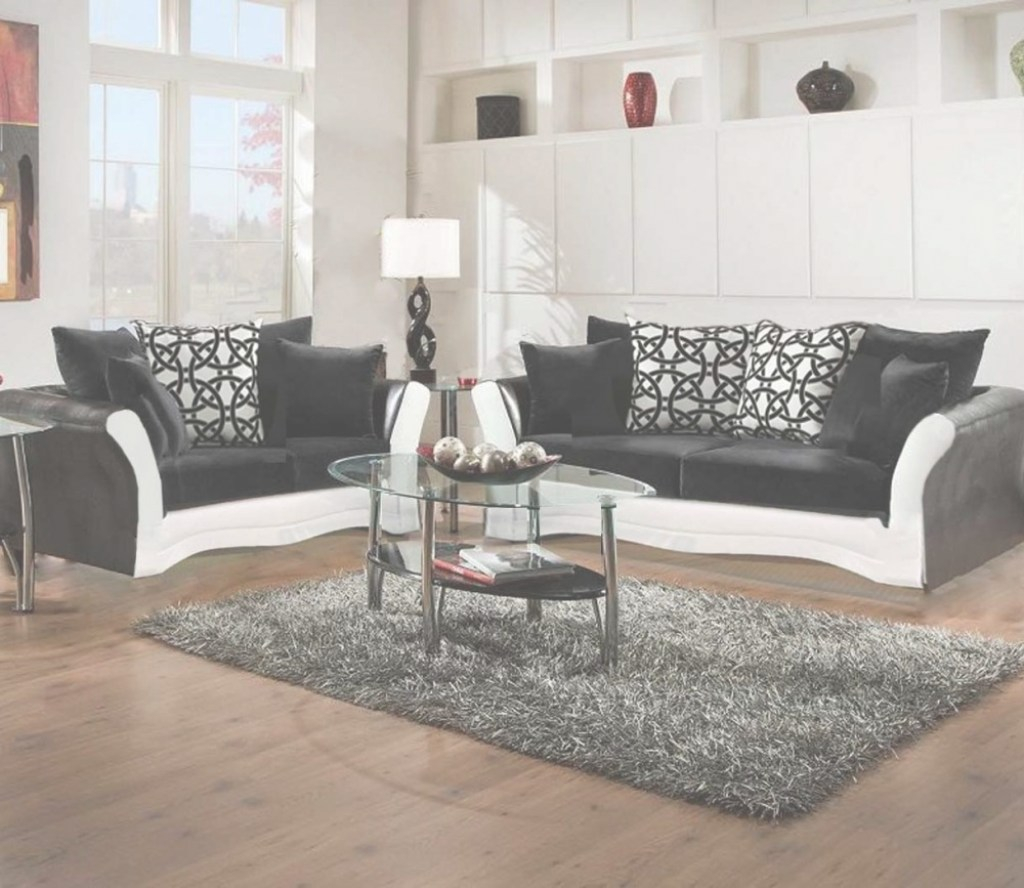Cool Black And White Sofa And Love Living Room Set | 8000 Black And White pertaining to Living Room Sets Cheap