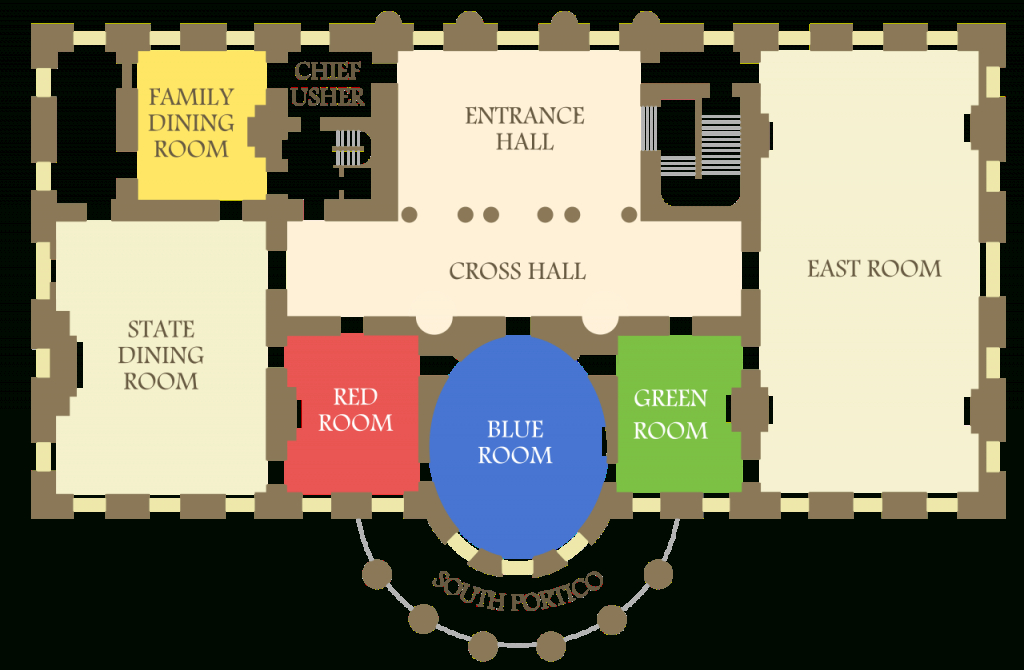 Cool File:white House State Floor.svg - Wikimedia Commons within Floor Plan Of Whitehouse