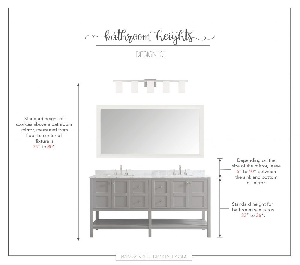 Cool How High To Place Your Bathroom Fixtures | Inspired To Style intended for New Bathroom Vanity Height