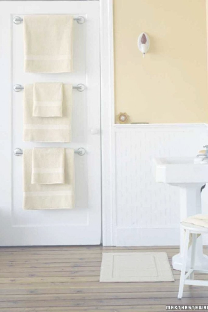 Cool Ideas To Save Space And Add Towel Storage In A Small Bathroom within Best of Towel Rack Ideas For Small Bathrooms