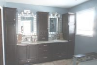 Cool Master Bathroom – Bathroom Decor – Dark Cabinets – Blue Bathroom within Blue Bathroom Storage Cabinet