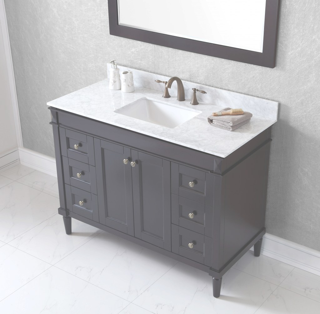 Cool Virtu Usa Tiffany 48 Bathroom Vanity Cabinet In Espresso | Bathtubs Plus within Espresso Bathroom Vanity