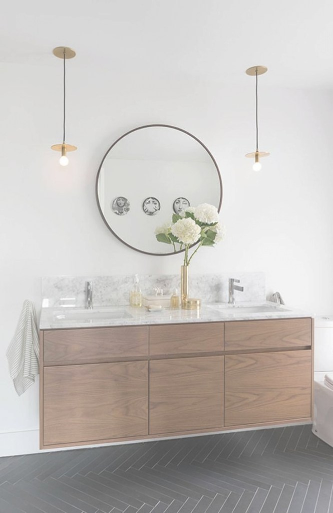 Elite 2016 Bathroom Trends Go Bold For The New Year | Pinterest | Bathroom regarding Beautiful Circular Bathroom Mirror