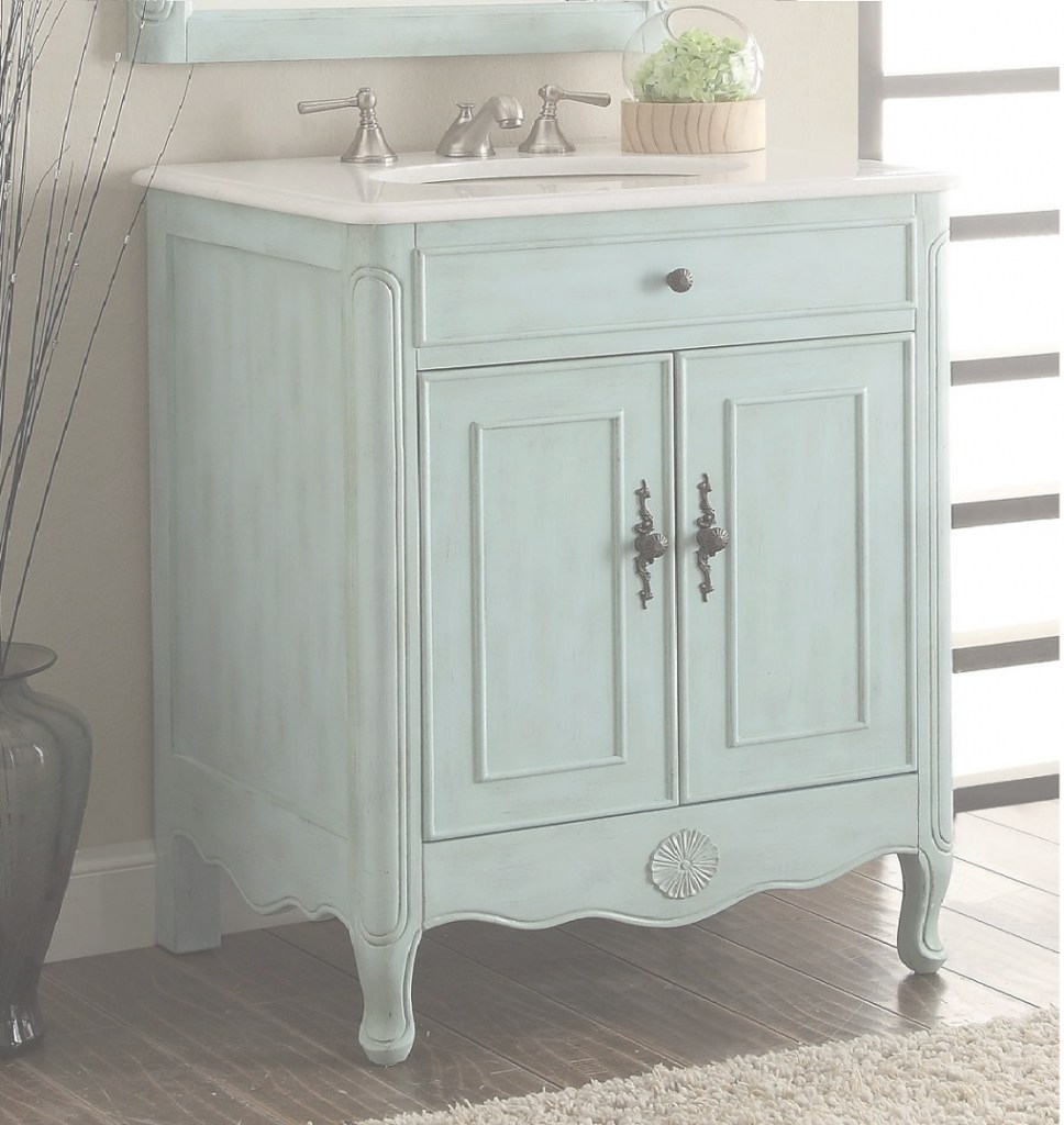 Elite 26 Inch Bathroom Vanity Cottage Coastal Beach Style Vintage Blue pertaining to Good quality 26 Inch Bathroom Vanity