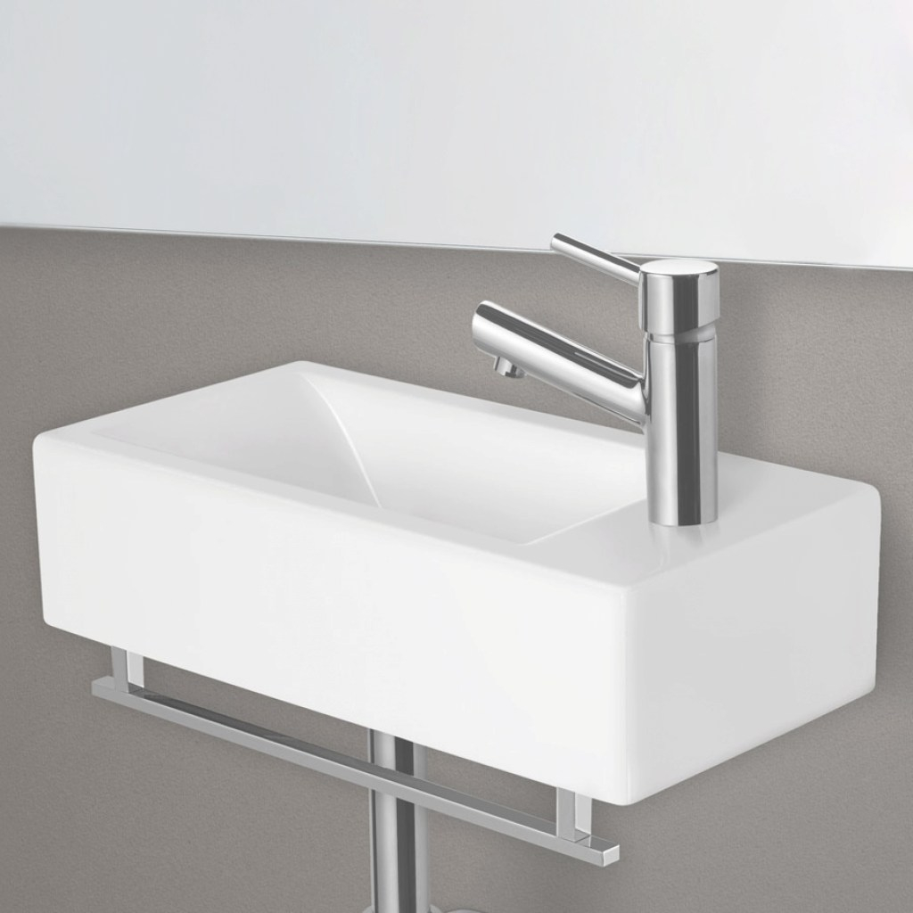 Elite Alfi Brand Small Rectangular Wall Mounted Bathroom Sink Basin pertaining to Small Rectangular Bathroom Sink