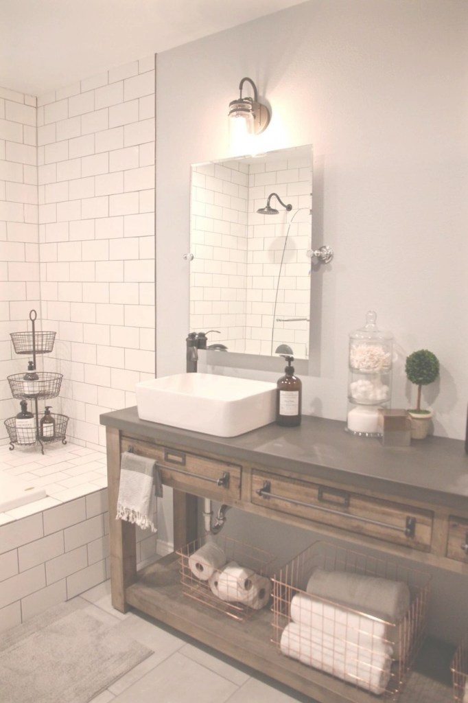 Elite Bathroom Remodel: Restoration Hardware Hack - Mercantile Console in Restoration Hardware Bathroom Mirrors