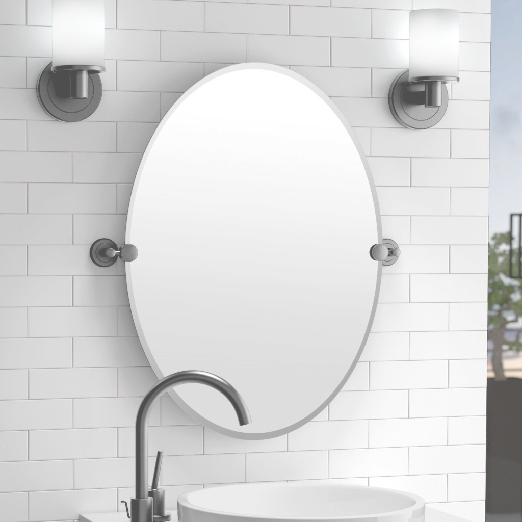 Elite Gatco Latitude Ii Bathroom/vanity Mirror & Reviews | Wayfair pertaining to Bathroom Magnifying Mirror