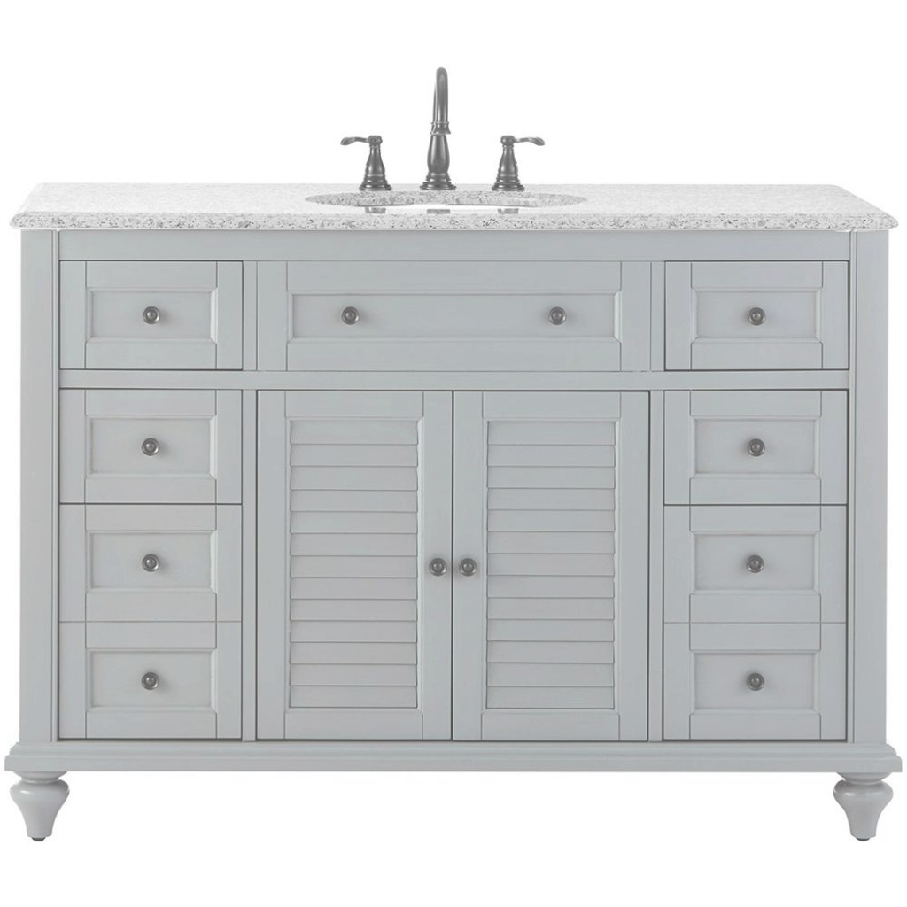 Elite Home Decorators Collection Hamilton Shutter 49.5 In. W X 22 In. D pertaining to Home Decorators Bathroom Vanity