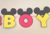 Elite It's A Boy Mickey Mouse Baby Shower Banner Mickey Mouse | Etsy with Unique Baby Shower Mickey Mouse