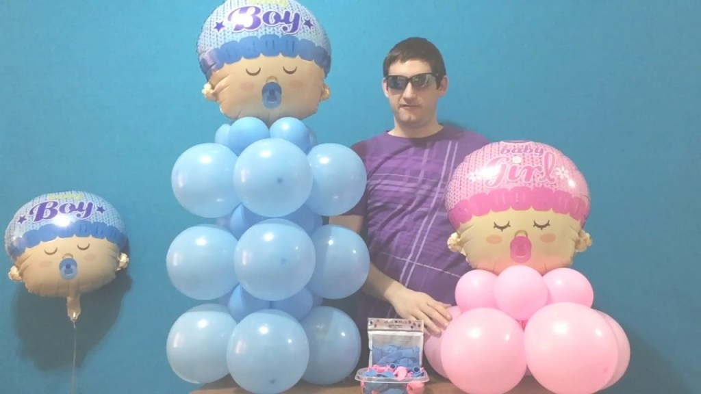 Epic Baby Shower Balloon Decor (Dollar Store!) - Youtube inside How To Make Baby Shower Balloon Decorations