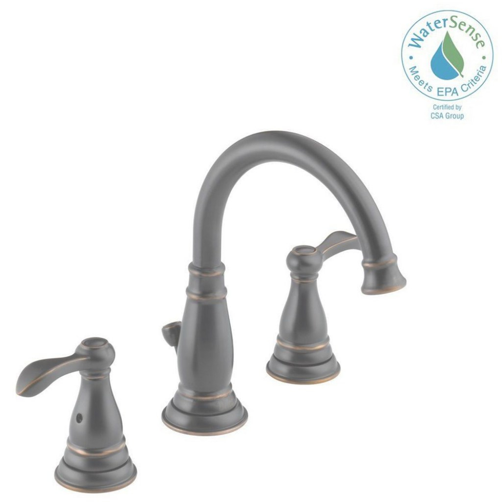 Epic Delta Porter 8 In. Widespread 2-Handle Bathroom Faucet In Oil Rubbed regarding Best of Brushed Bronze Bathroom Faucet