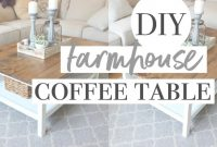 Epic Diy Farmhouse Coffee Table | Easy Ikea Hack! – Youtube pertaining to Lovely Ikea Hack Coffee Table
