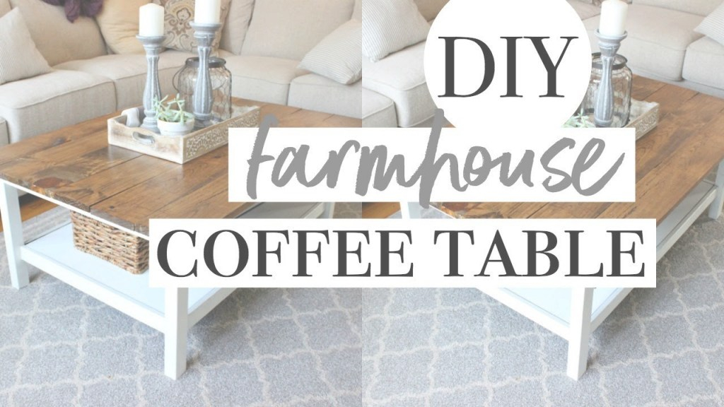 Epic Diy Farmhouse Coffee Table | Easy Ikea Hack! - Youtube pertaining to Lovely Ikea Hack Coffee Table