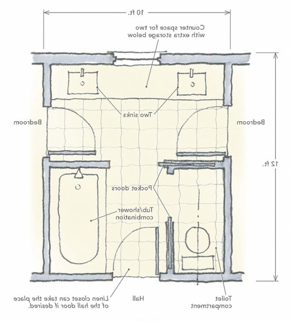 Epic Jack And Jill Bathroom Plans: Jack And Jill Bathroom Designs Jack throughout Set Jack And Jill Bathroom Layout
