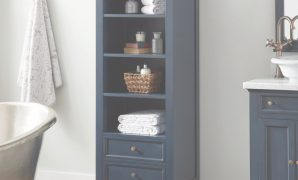 Epic Keller Mahogany Linen Storage Cabinet - Vintage Navy Blue In 2019 in Best of Blue Bathroom Storage Cabinet