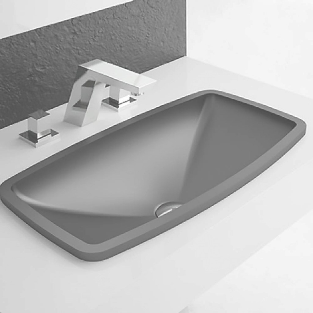Epic Modern Rectangular Drop-In Bathroom Sink | Black throughout Awesome Black Bathroom Sink