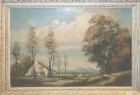 Epic Original 19Th Century Landscape Oil Paintingkarl Kaufman inside Landscape Pictures For Sale
