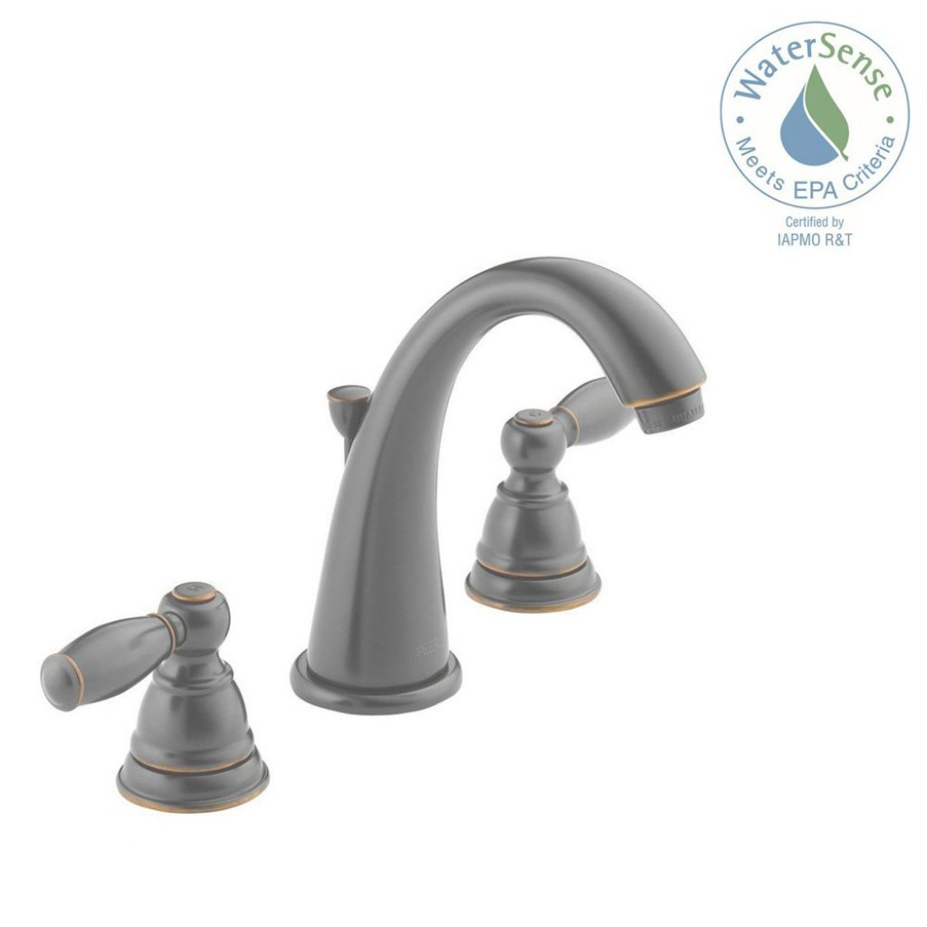 Epic Peerless Apex 8 In. Widespread 2-Handle Bathroom Faucet In Oil pertaining to Best of Brushed Bronze Bathroom Faucet