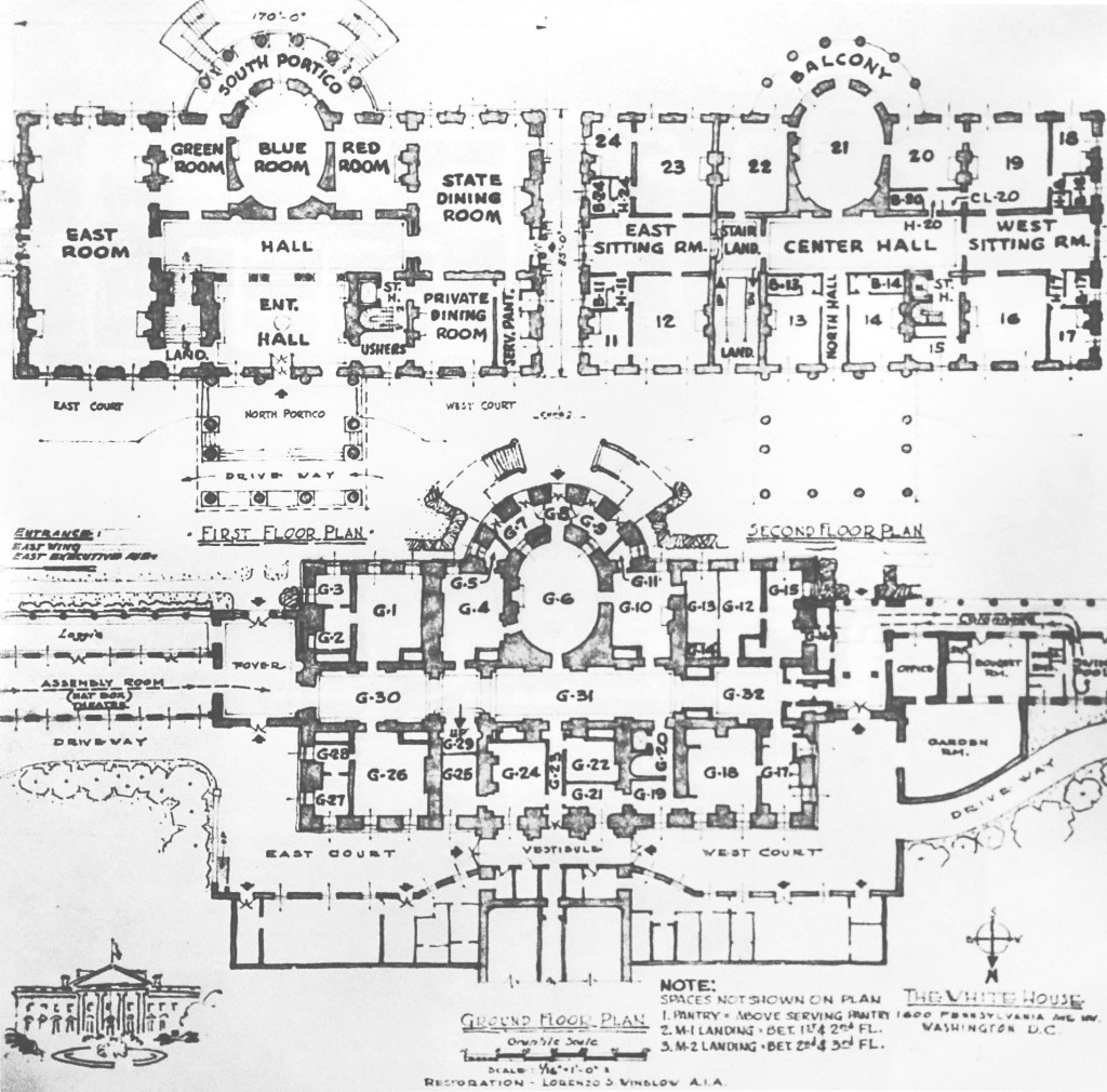 Epic Truman Reconstruction - White House Museum within Fresh Floor Plan Of Whitehouse
