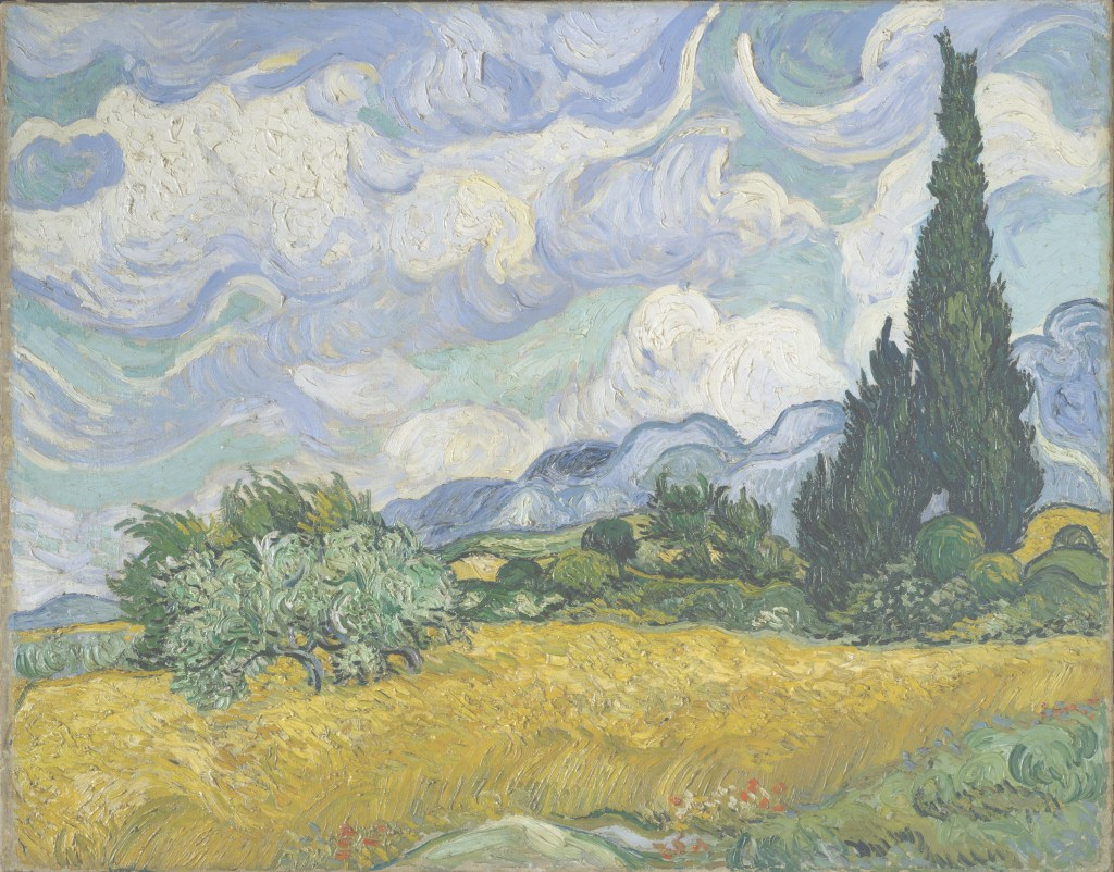 Epic Wheat Field With Cypresses - Wikipedia with regard to Van Gogh Landscape Drawingslandscape Synonym