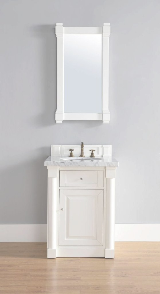 Fabulous Abstron 26 Inch White Finish Single Sink Bathroom Vanity Optional inside 26 Inch Bathroom Vanity
