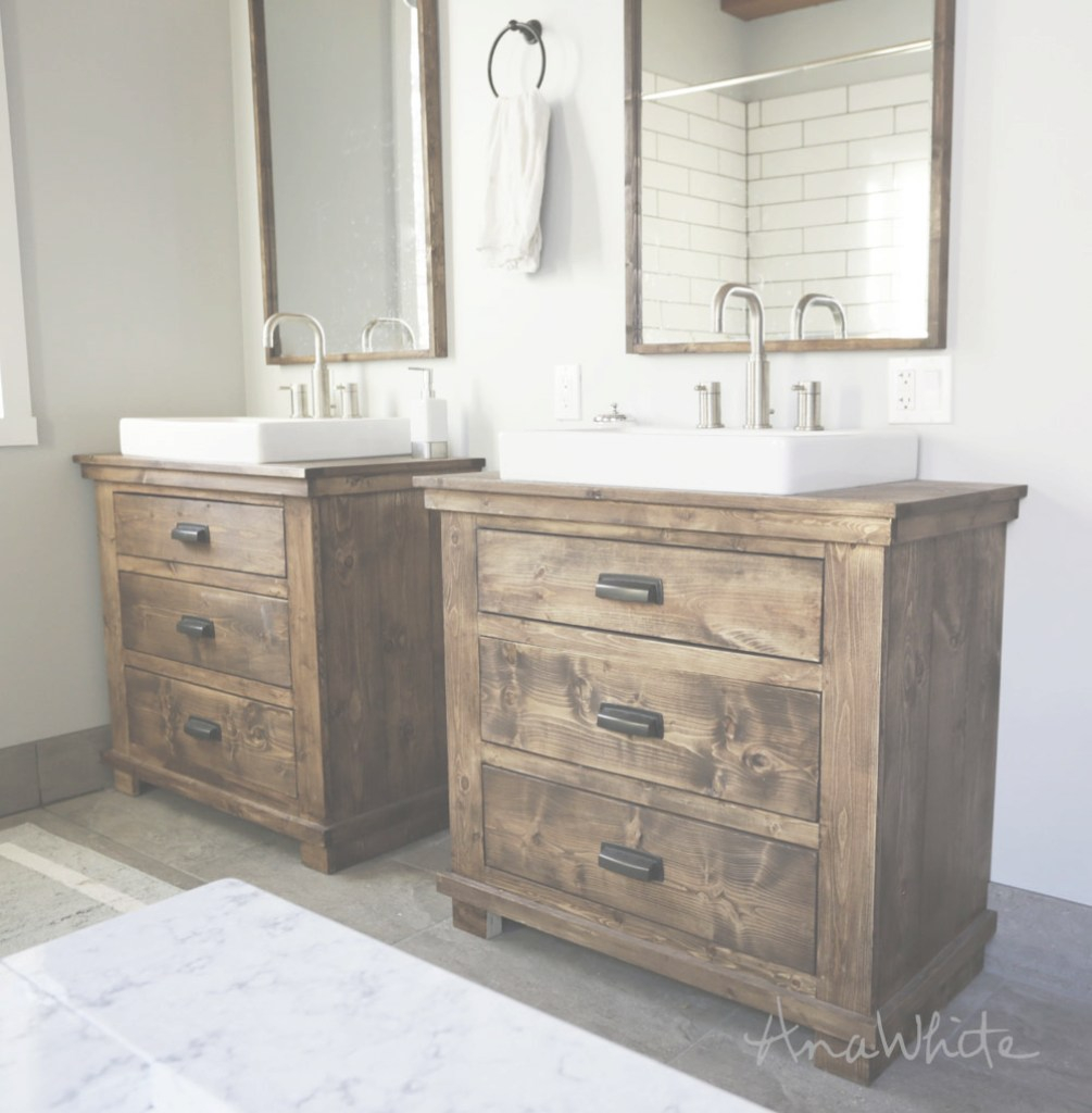 Fabulous Ana White | Rustic Bathroom Vanities - Diy Projects with Elegant Diy Bathroom Vanity Plans