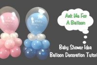 Fabulous Baby Shower Balloon Decoration Idea – Balloon Centerpiece Tutorial intended for How To Make Baby Shower Balloon Decorations