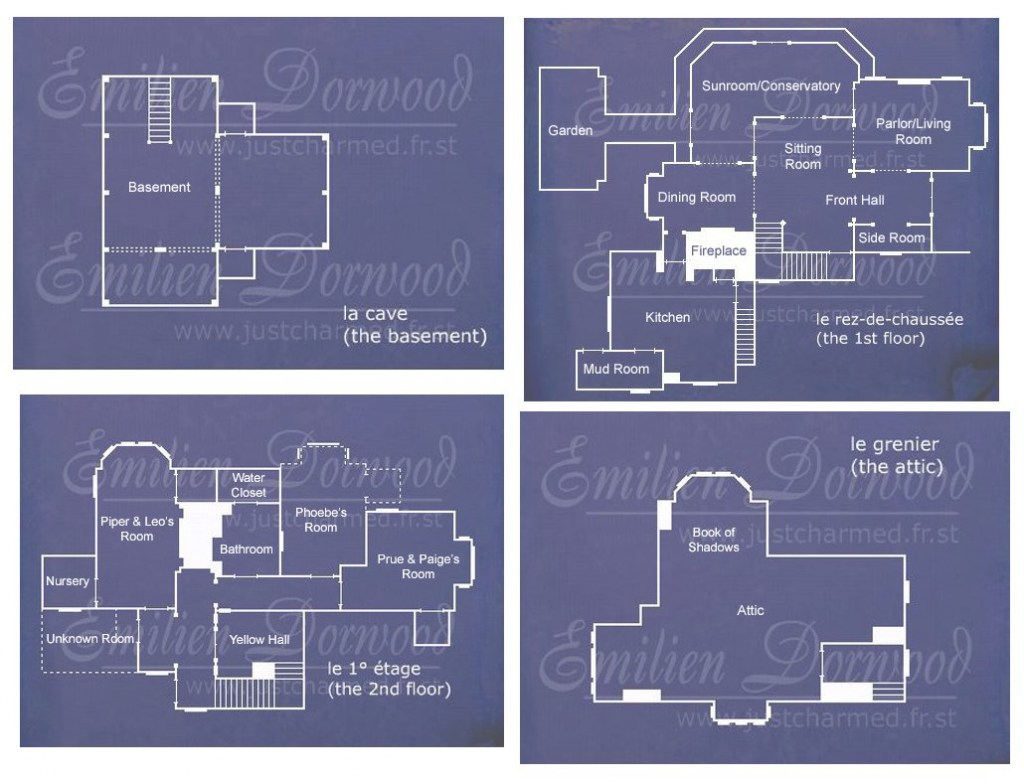 Fabulous Halliwell Manor | Charmed • | Charmed Tv, House Blueprints regarding Halliwell Manor Floor Plans