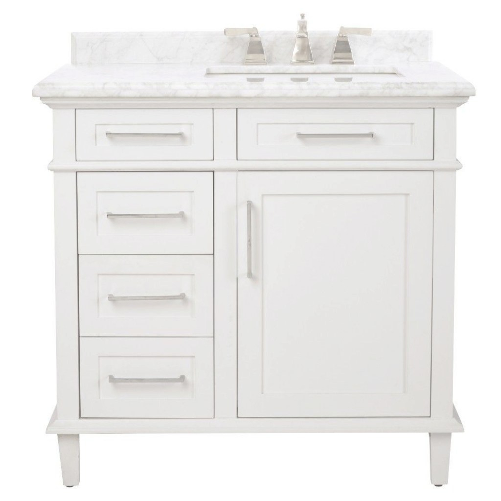 Fabulous Home Decorators Collection Sonoma 36 In. W X 22 In. D Bath Vanity In in Awesome Home Depot Bathroom Vanities 36 Inch