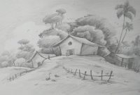Fabulous How To Draw Easy And Simple Landscape For Beginners With Pencil within Landscape Drawing In Pencil