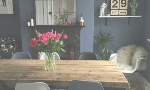 Fabulous Little Greene Juniper Ash Dark Dining Room Www.overatkates inside Set Dark Blue Dining Room