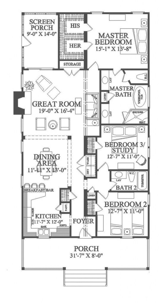 Fabulous New Orleans House Plans | Dream Home: Plans & Layouts In 2019 in Shotgun Houses Floor Plans