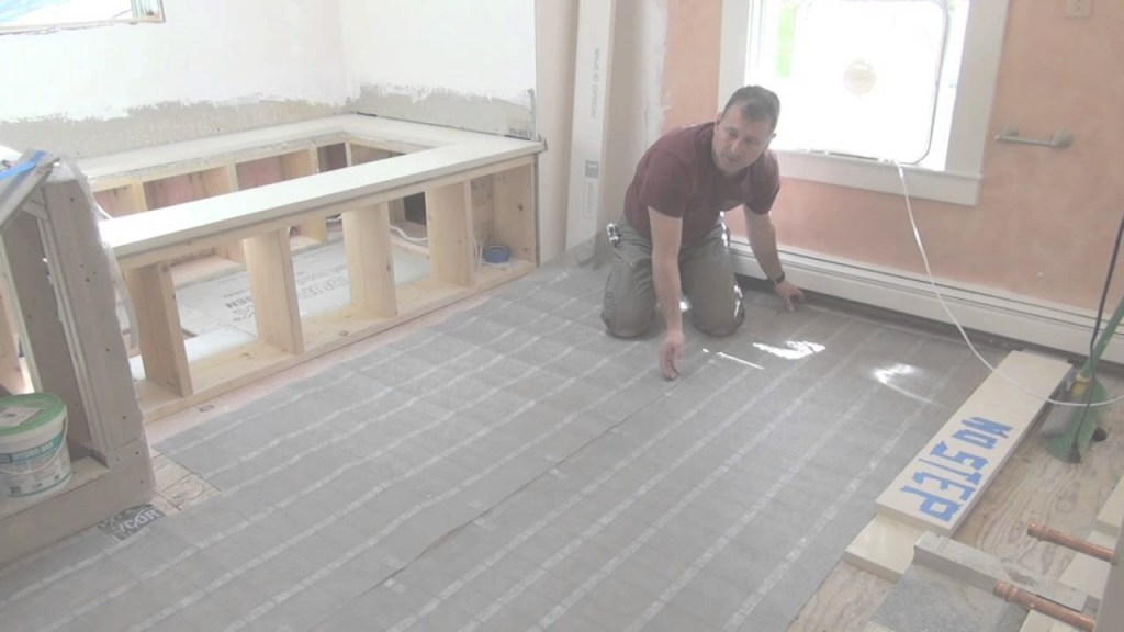 Fabulous Remodeling A Bathroom Part 10 [Electric Radiant Floor Heat] - Youtube intended for Heated Floors In Bathroom