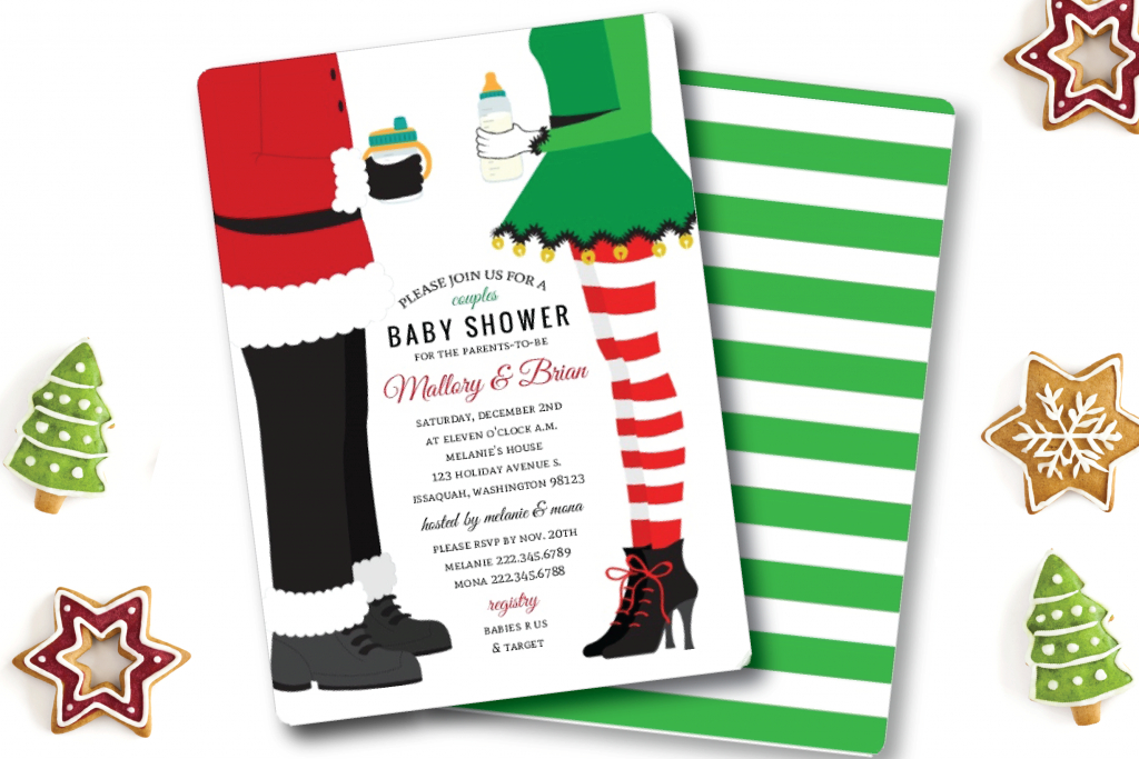 Fabulous Top 5 Christmas Themed Baby Shower Ideas | Invitation Ideas in Christmas Themed Baby Shower
