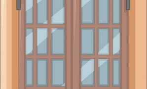 Fabulous Window Design With Wooden Frame Royalty Free Vector Image with regard to Review Wood Window Frame Design
