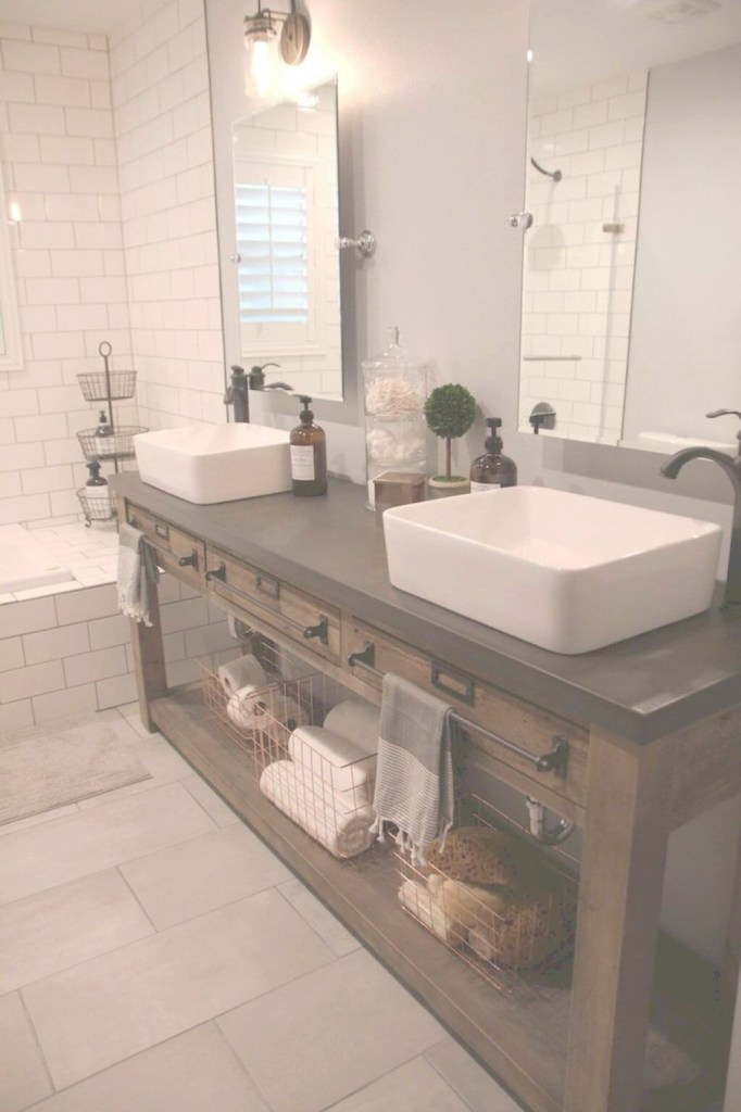 Fancy 35 Best Rustic Bathroom Vanity Ideas And Designs For 2019 pertaining to Set Bathroom Vanity Designs
