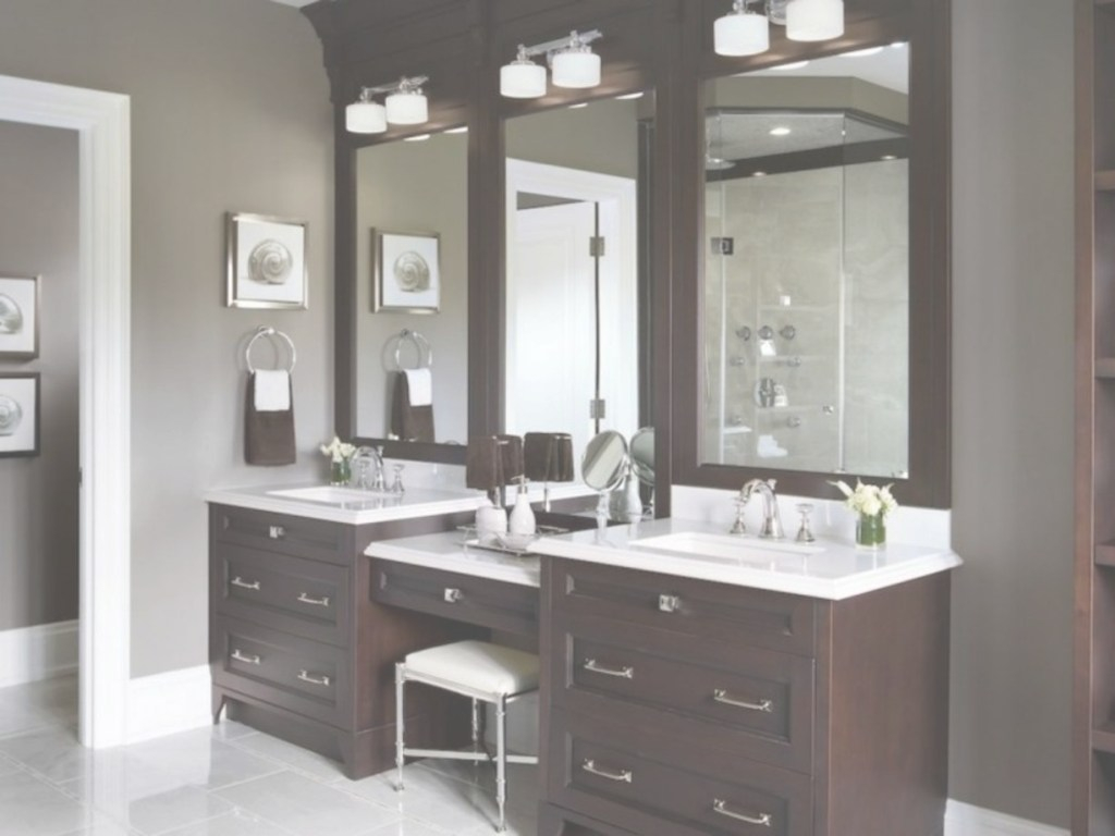 Fancy 60 Bathroom Vanity Ideas With Makeup Station - Round Decor within Luxury Bathroom Vanity With Makeup Station