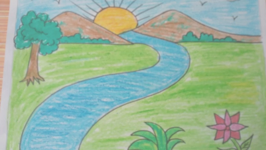 Fancy How To Draw A Landscape, Kids Drawing,mountains,drawing With Basic with Landscape Drawing Images
